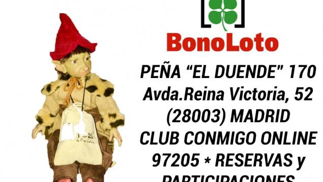 Décimo Bonoloto del sorteo Bonoloto