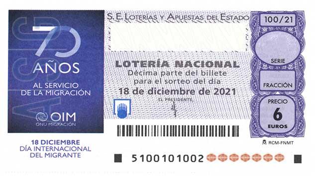 Décimo 18814 del sorteo 100-18/12/2021 Sábado