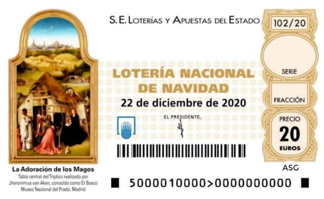 Décimo 92018 del sorteo 102-22/12/2020 Navidad