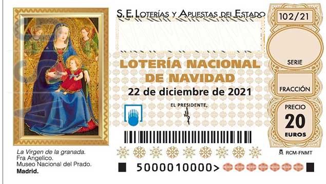 Décimo 11109 del sorteo 102-22/12/2021 Navidad