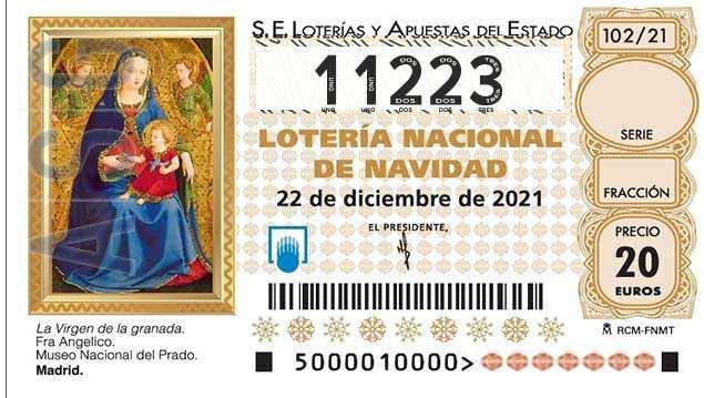 Décimo 11223 del sorteo 102-22/12/2021 Navidad