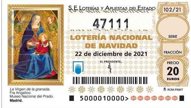 Décimo 47111 del sorteo 102-22/12/2021 Navidad