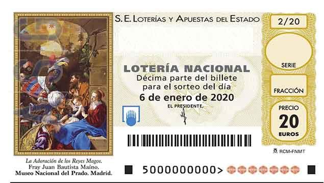 Décimo 36079 del sorteo 2-06/01/2020 El NiÑo