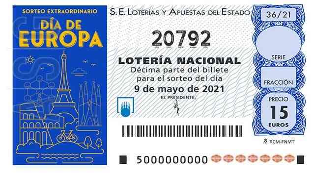 Décimo 20792 del sorteo 36-09/05/2021 Sábado