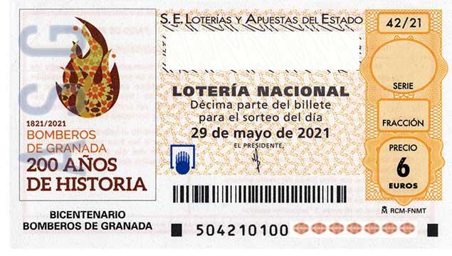 Décimo 84645 del sorteo 42-29/05/2021 Sábado