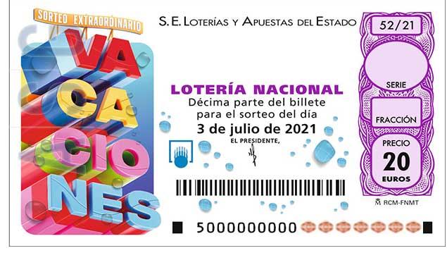 Décimo 00069 del sorteo 52-03/07/2021 Sábado