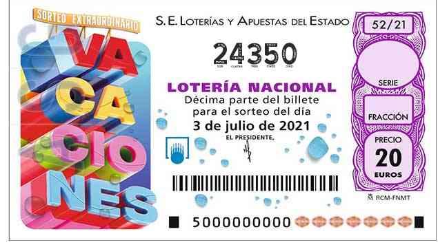 Décimo 24350 del sorteo 52-03/07/2021 Sábado