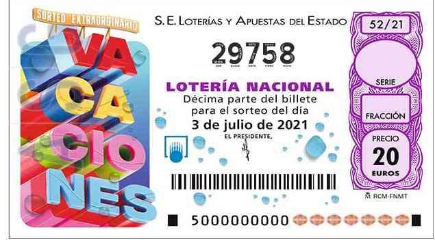 Décimo 29758 del sorteo 52-03/07/2021 Sábado