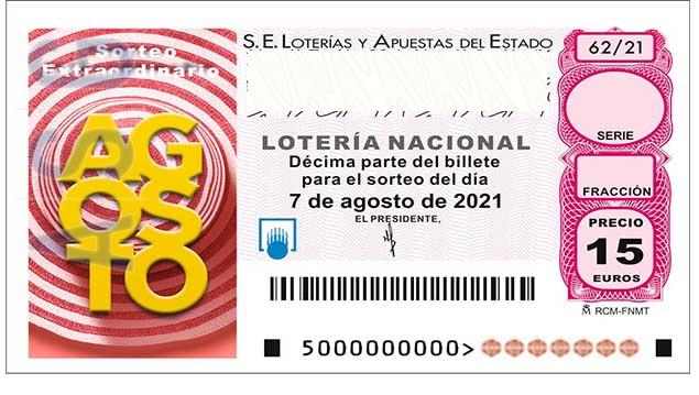 Décimo 38654 del sorteo 62-07/08/2021 Sábado