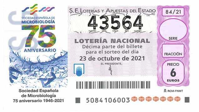 Décimo 43564 del sorteo 84-23/10/2021 Sábado