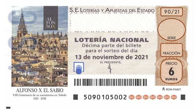 Décimo 05959 del sorteo 90-13/11/2021 Sábado
