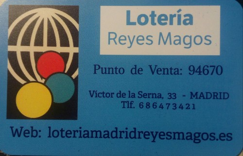 Lotería Madrid Reyes Magos