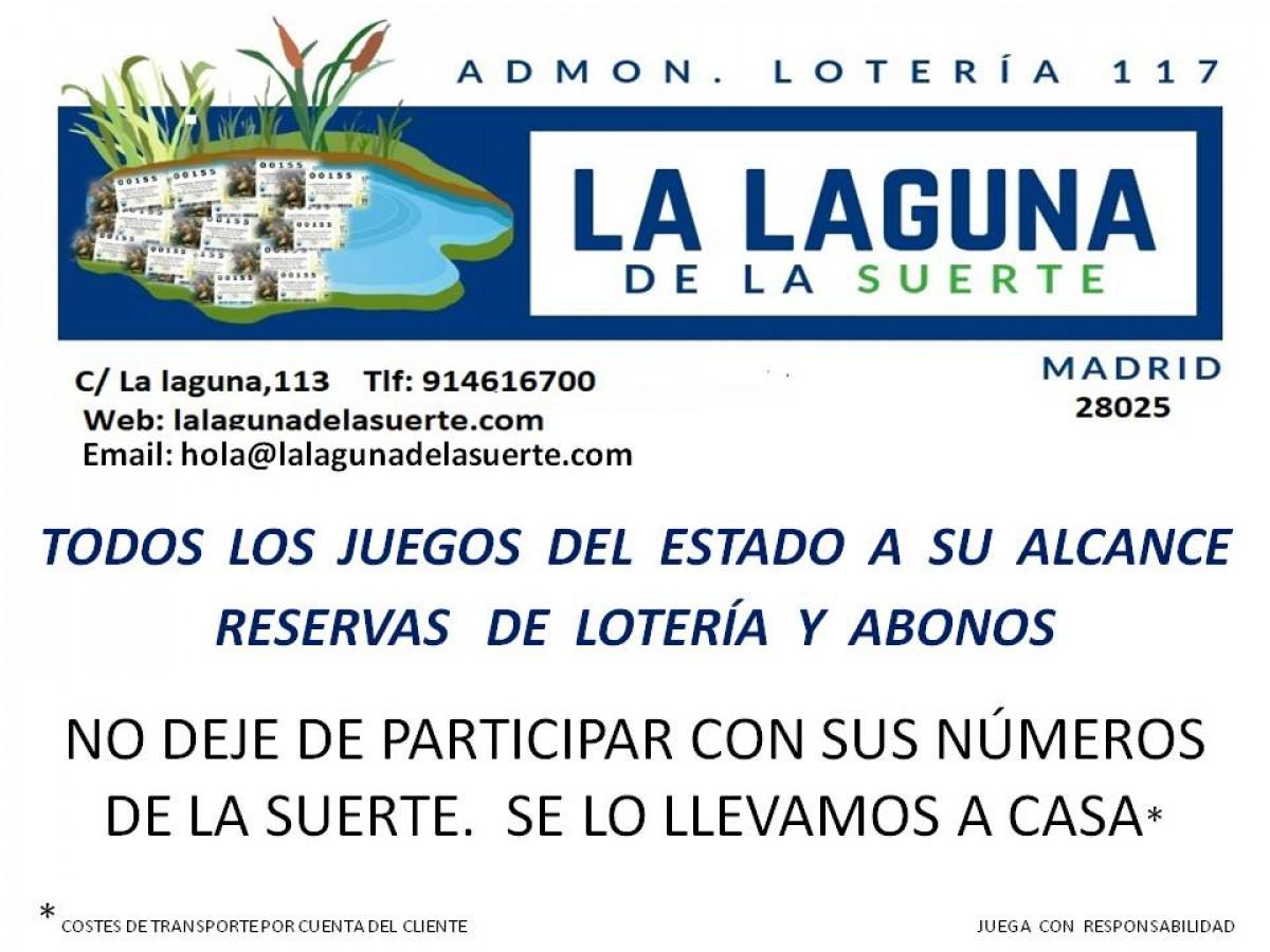 """Administración de Loterías 117.-MADRID """"Lalagunadelasuerte"""""""