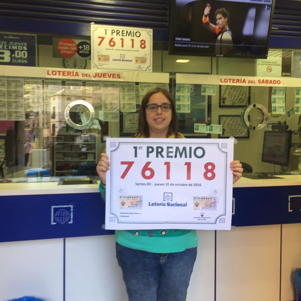 premio Loteria del Jueves Administracion de loteria numero 2 de Calalatayud