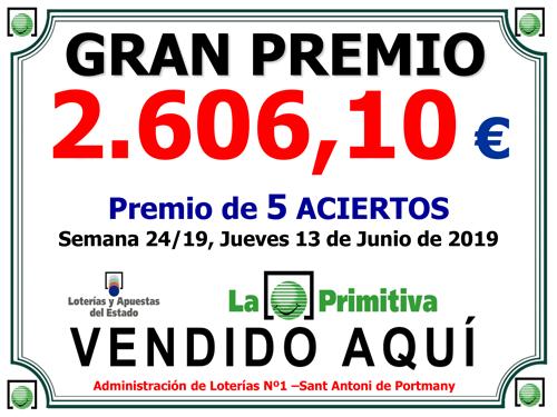 Premio de Loteria Ibiza